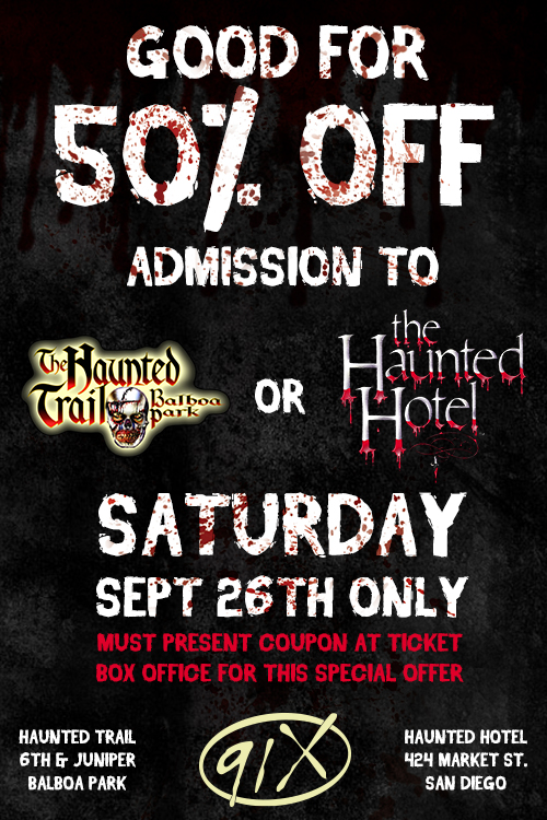 Haunted Hotel Coupon 91x Fm