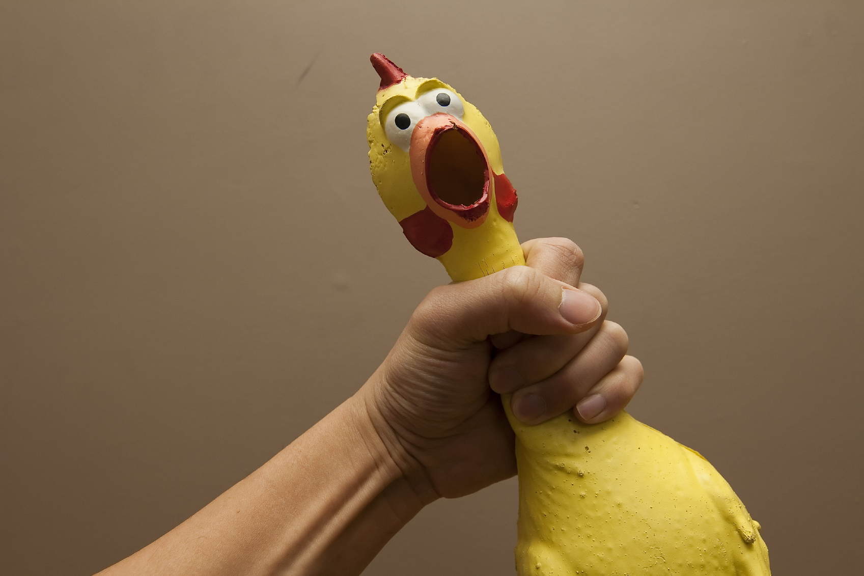 Aroused Man Choking The Chicken
