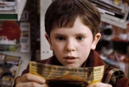 "FREDDIE HIGHMORE as Charlie Bucket in Warner Bros. Pictures' fantasy adventure ""Charlie and the Chocolate Factory,"" starring Johnny Depp. PHOTOGRAPHS TO BE USED SOLELY FOR ADVERTISING, PROMOTION, PUBLICITY OR REVIEWS OF THIS SPECIFIC MOTION PICTURE AND TO REMAIN THE PROPERTY OF THE STUDIO. NOT FOR SALE OR REDISTRIBUTION."